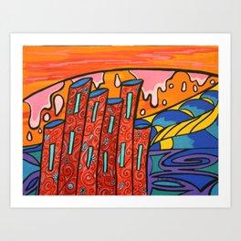 Tours aquatiques Art Print