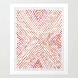 The Big X in Peach Art Print