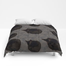 Black cat photo pattern Comforters