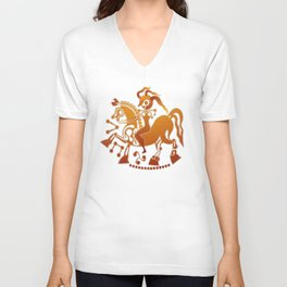 Boudicca takes the reigns. Unisex V-Neck