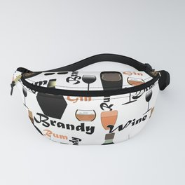 Abstract holiday gift pattern for men . Bar Fanny Pack