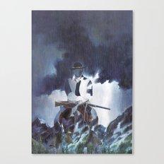The Unknown Rider Hard Rain Canvas Print