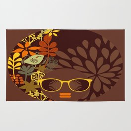 Afro Diva : Sophisticated Lady Retro Brown Rug