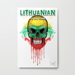 To The Core Collection: Lithuania Metal Print
