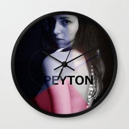 Peyton SHOOT Wall Clock