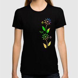 Bees And Flowers T-shirt