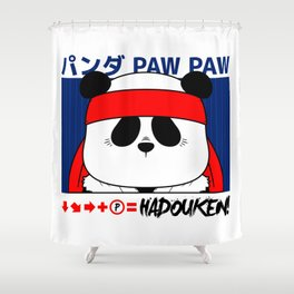 Panda (Hadouken) Shower Curtain