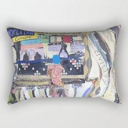 Barriers Can Be Broken Vector Rectangular Pillow