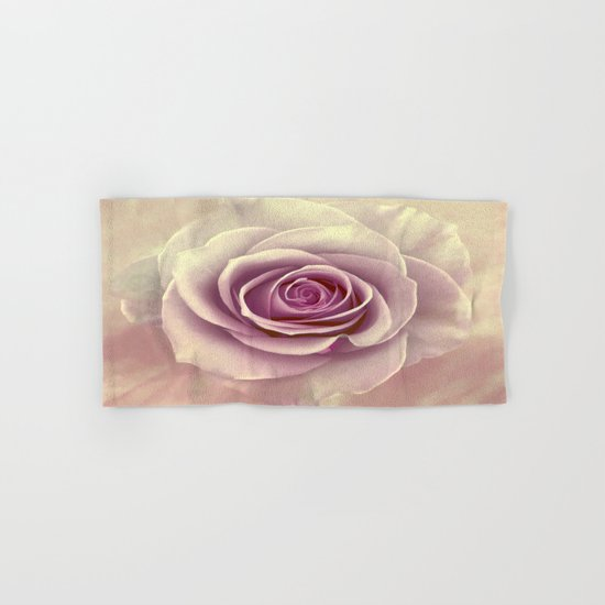 Tea Rose Painterly Abstract Hand & Bath Towel