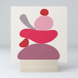 Scoop // Abstract in Pink Mini Art Print