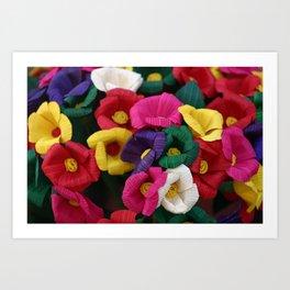 mexican flowers Art Print