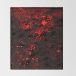 Red Blood Splatter Throw Blanket