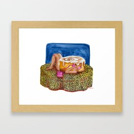 Call Cinnamon Bun Framed Art Print