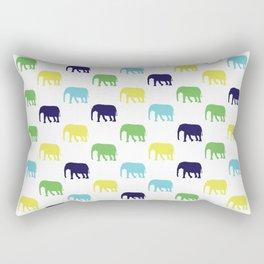 Colorful Elephants Silhouettes Rectangular Pillow