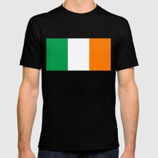 Flag of the Republic of Ireland Mens Fitted Tee Black MEDIUM