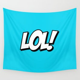 Laughing Typeface Wall Tapestry