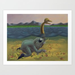 The truth of Loch Ness Art Print