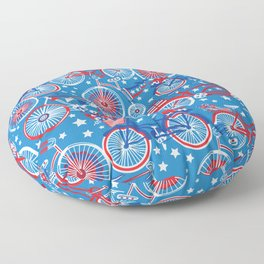Cycling On The 4th Floor Pillow