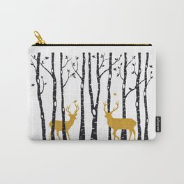 Gold reindeer, Christmas card Carry-All Pouch