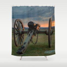 Gettysburg Cannon Sunset Shower Curtain
