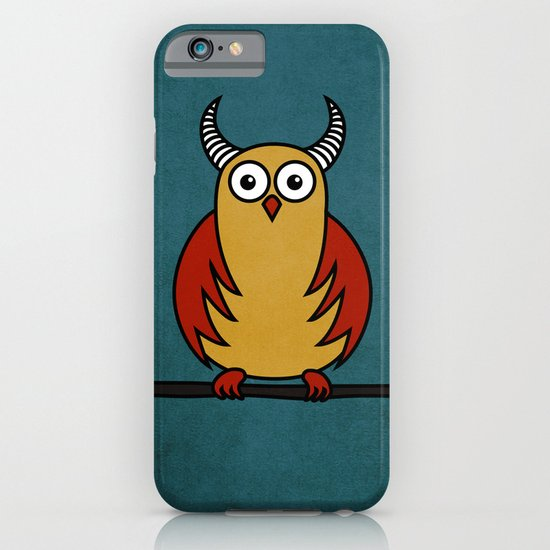Funny Cartoon Horned Owl iPhone & iPod Case