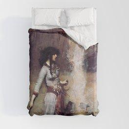 THE MAGIC CIRCLE - JOHN WILLIAM WATERHOUSE Duvet Cover