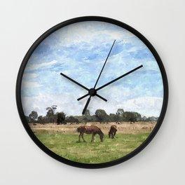 Hay Bales Wall Clock