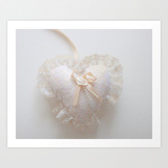 My Fabric Heart  Art Print