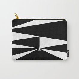 Triangles in Black and White Carry-All Pouch