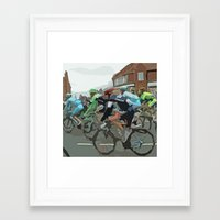 tour de france Framed Art Prints featuring Tour de France 2014 by Bloon Images
