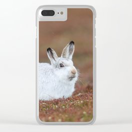 Mountain hare Clear iPhone Case