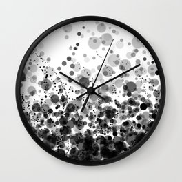 Black and White Spotted 2 Wall Clock