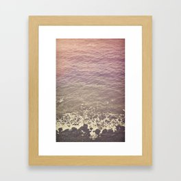 Rocky Beach Retro Framed Art Print