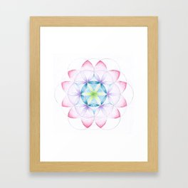 Flower of Life Three Framed Art Print