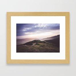good morning mountains Framed Art Print