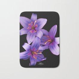 Beautiful Blue Ant Lilies, Flowers Scanography Bath Mat