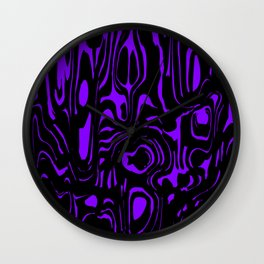 A twisted interweaving of violet spots from flowing lava and a light chaotic cycle. Wall Clock