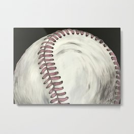 Vintage Baseball Art Metal Print