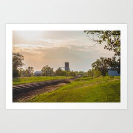 Railroad Tracks, Washburn, North Dakota 1 Art Print