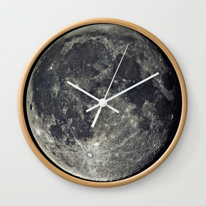 Moon Wall Clock By Subnetwork Society6