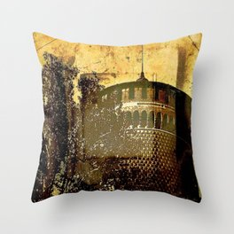 Her Ivory Tower Beckoned Throw Pillow