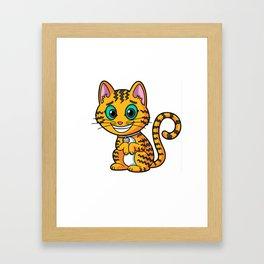 Ziggy Kitty Framed Art Print