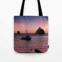 Sunset at First Beach - La Push Tote Bag