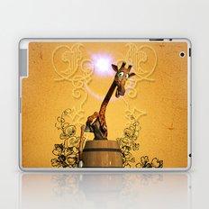 Funny, sweet giraffe Laptop & iPad Skin