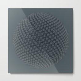 Fibo Orb Slate Metal Print