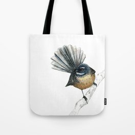 Mr Pīwakawaka, New Zealand native bird fantail Tote Bag