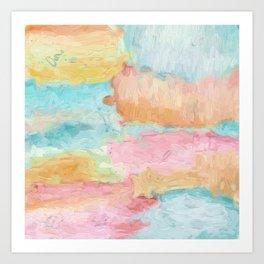 Abstract Watercolor - Design No.1 Art Print