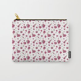 Pink Orchid Flow Pattern Carry-All Pouch