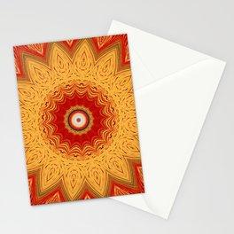 Bright Gold Orange Mandala Stationery Cards