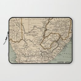 Vintage Map of South Africa (1889) Laptop Sleeve